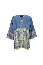 poncho with paisley motifs