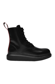 Hybrid Logo Tape Ankle Boots