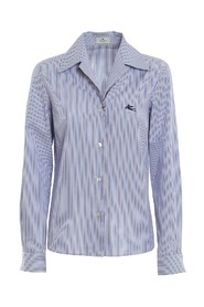 Striped Shirt with Logo