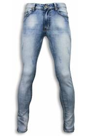 Basic Jeans Damaged Slim Fit