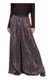 Pleated Lame Trousers