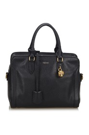 Leather Skull Padlock Satchel