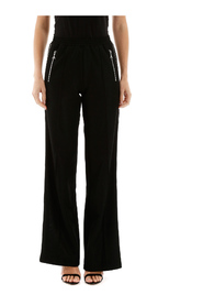 Crystal-embellished trousers