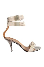 Crocodile Embossed Straps Sandals