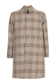 COTTON CHECKED TRENCH
