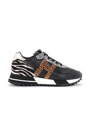 H383 sneaker with animalier details