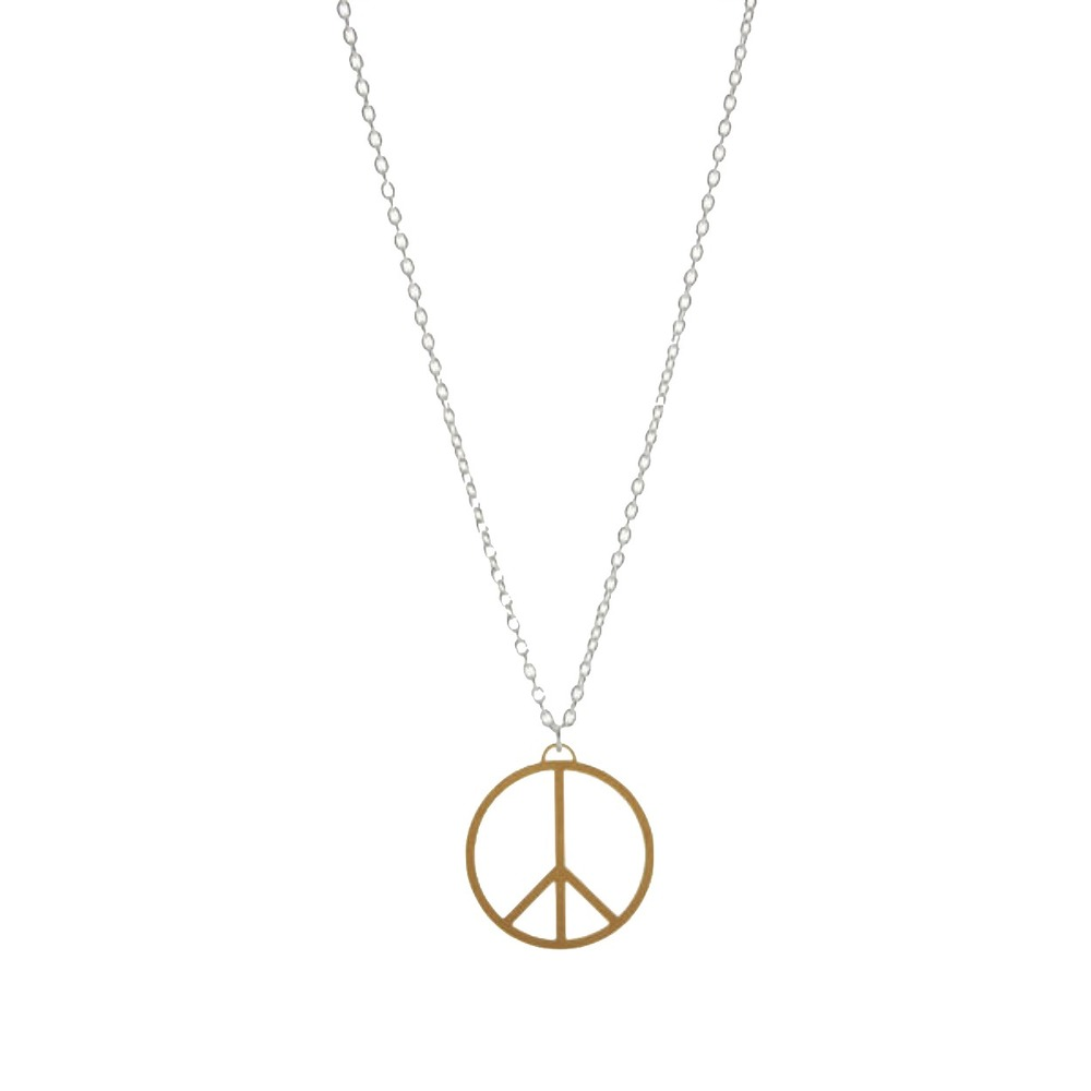 AndeliusGribbe Peace Necklace Silver and Gold