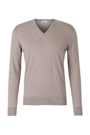Contrast V-Neck Sweater