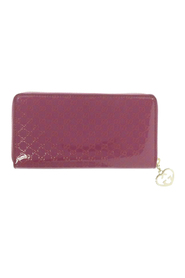 pre-owned Microguccissima Leather Zip Around Wallet Leather Patent Leather
