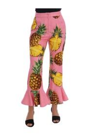 Jacquard Flare Pants