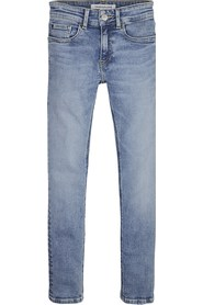 CALVIN KLEIN IB0IB00064 SKINNY JEANS Boy DENIM LIGHT BLUE