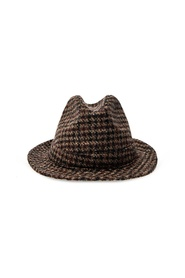 Checked fedora hat