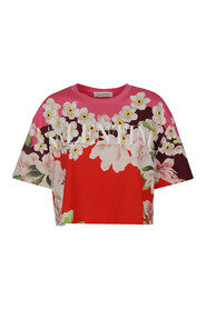 JERSEY T SHIRT FLOWER COLLAGE