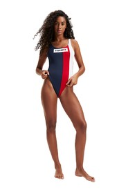 TOMMY HILFIGER UW0UW01811 ONE PIECE swimsuit  sea and pool Women Multicolor
