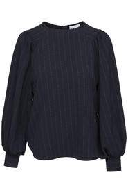 Ganni Clark Blouse Navy Stripe