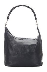 Bamboo Leather Shoulder Bag