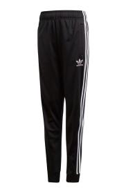 Pantalon sport à logo brodé
