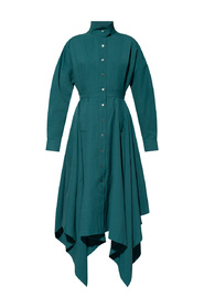 Dress with standing collar