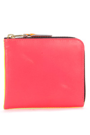 Fluo leather wallet