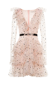 Grace minidress in polka dot tulle