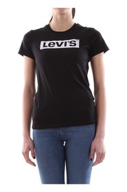 LEVIS 17369 THE PERFECT TEE T SHIRT AND TANK Women BLACK