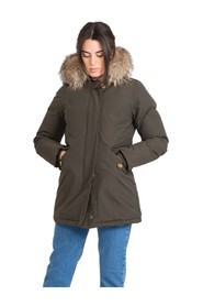 Hooded jacket with 2 pockets