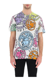 Oversized t-shirt with medusa amplified print
