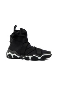 HIGH SNEAKER WITH ELASTICIZED UPPER
