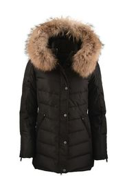 LAUREN COMFORT BLACK DOWN REAL FUR NATURAL