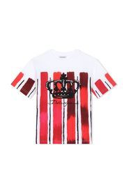 crown painted stripe T-shirt