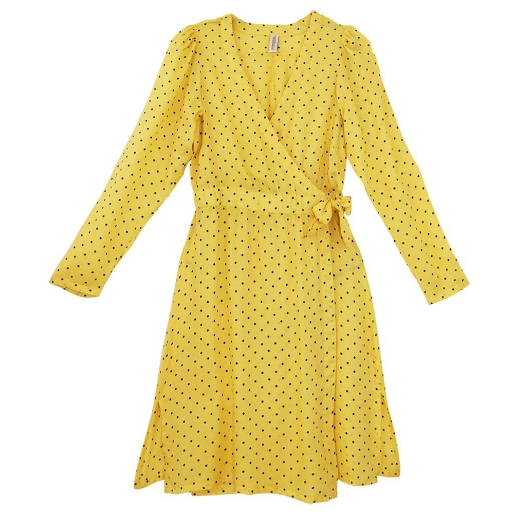 1fcd16e21961 Underprotection Yellow Donna Prikket Kjole