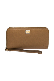 Leather Strappy Zip Around Wallet