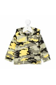 Hoodie with camouflage print