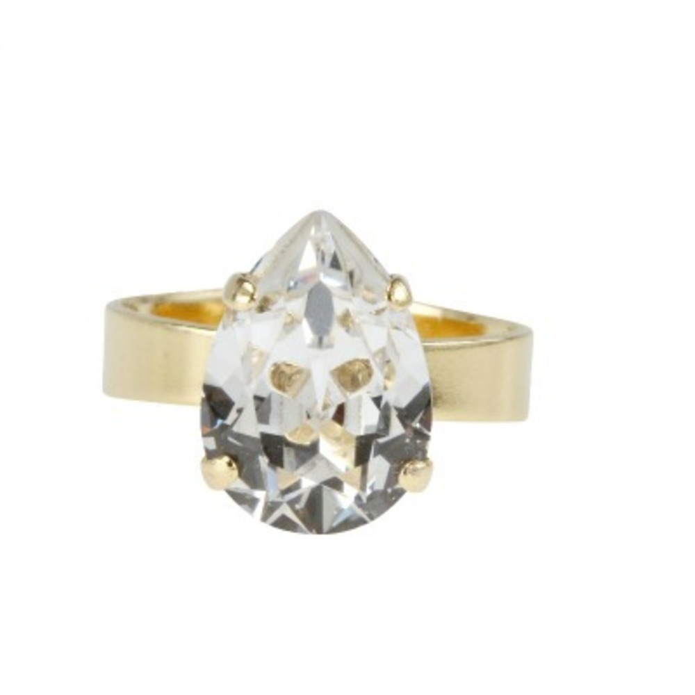 Caroline Svedbom Mini Drop Ring Crystal