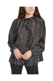 Chypre Ray ruffled striped shirt