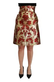 Floral Jacquard High Waist Mini Skirt