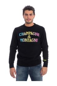 CHAMPAGNE & MOUNTAINS PRINT SWEATER