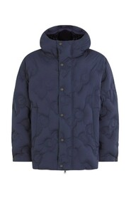 Hooded quilted nylon jacket with DG logo