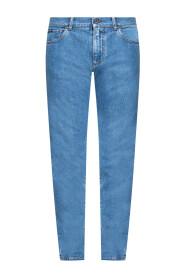 Logo-appliquéd jeans