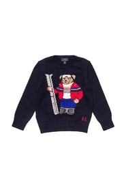 Round Necked Sweater with Bear