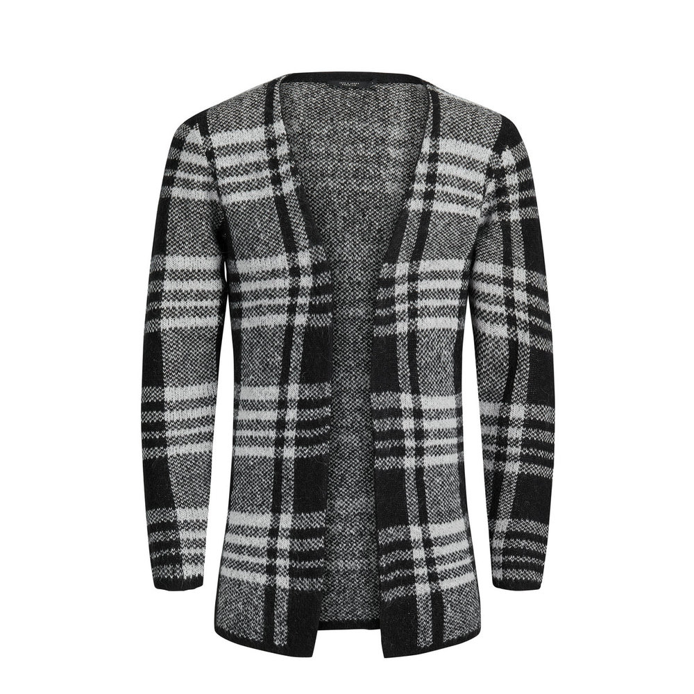 Knitted Cardigan Checkered