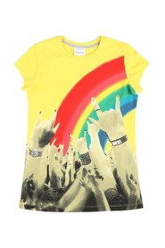 DIESEL 00J2A8 00YI9 TARLOT T SHIRT AND TANK Girl YELLOW