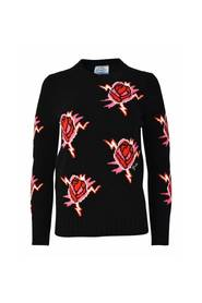 Roses pattern sweater