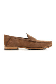 Leather and gommini sole loafers