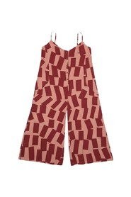 Rectangles pattern sleeveless jumpsuit