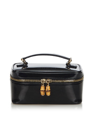 Bamboo Patent Leather Vanity Bag
