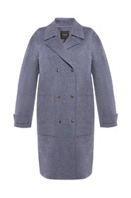 Double-breasted coat with pockets