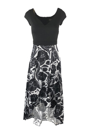 highlow dress with flowers