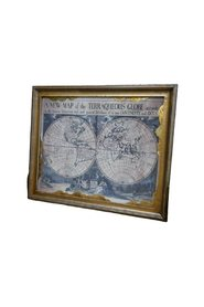 World map in frame