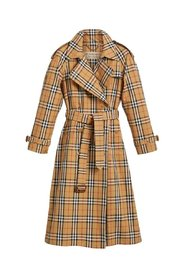 Vintage Check Trench Coat